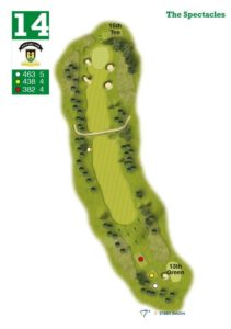Elgin Golf Club Hole 14 - The Spectacles