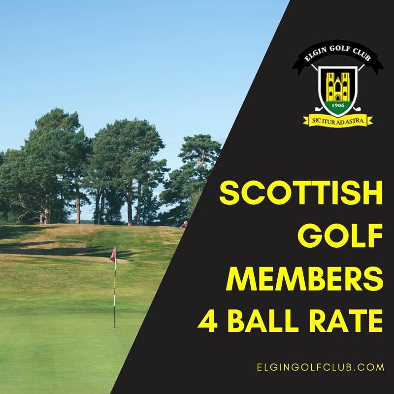 4 ball Scottish Golf Offer at Elgin Golf Club Moray